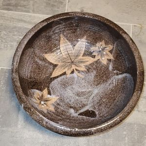 Stunning Handcrafted Glazed Pottery Bowl